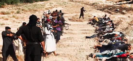 伊拉克激进武装分子公布血腥屠杀照片
