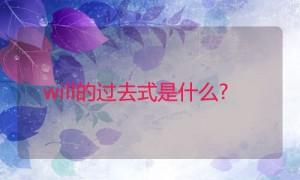 will的过去式是什么?will的用法和例句