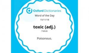 """《牛津词典》年度词汇揭晓:""""有毒""""概括了2018年人们的心情"""