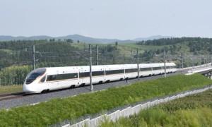 复兴号高寒动车组首次试跑中国最东端高铁